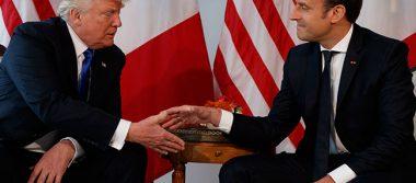 Ahora es Trump quien sufre por el fuerte saludo con Macron