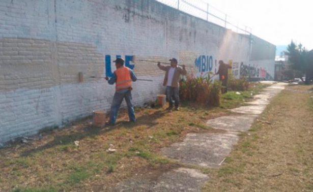 Despintan bardas con propaganda electoral de Vázquez Mota en Naucalpan