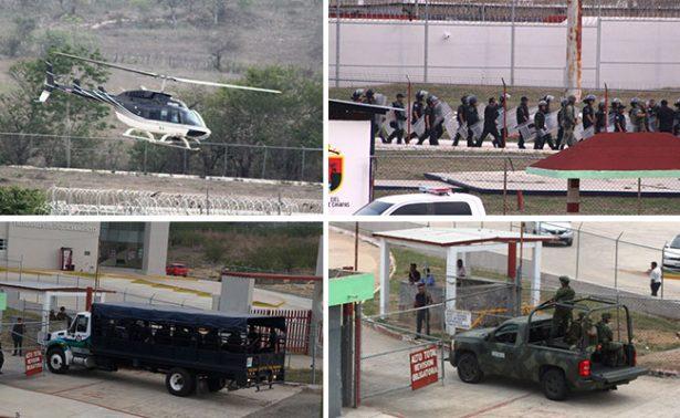 """Acuden policías a penal """"El Amate"""" tras intento de motín"""