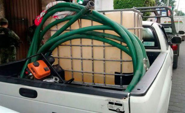 Cae en Tlaxcala huachicolero que transportaba 265 litros