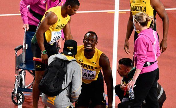 Compañeros de Bolt acusan a mala organización del Mundial de la lesión