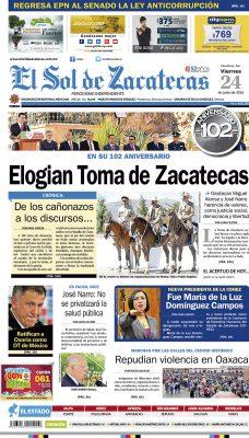 El Sol de Zacatecas 24 de junio