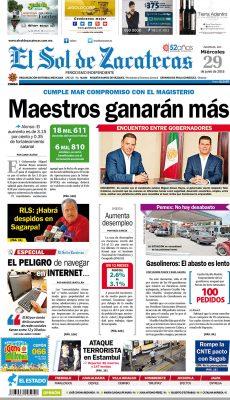 El Sol de Zacatecas 29 de junio