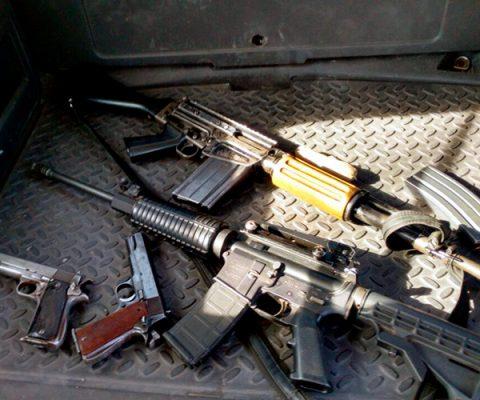 Aprehenden a dos con armas y droga en carretera San Luis Potosí-Zacatecas