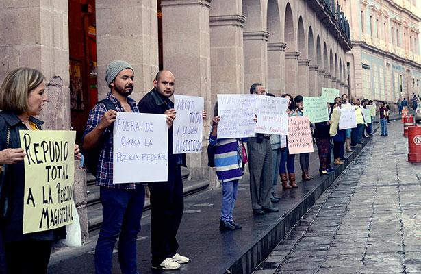 Zacatecanos repudian represión en Oaxaca