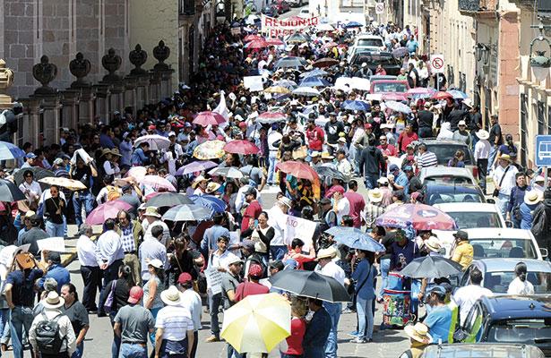 Marcha Zacatecas en apoyo a Oaxaca