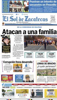 El Sol de Zacatecas 20 de junio