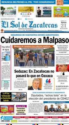 El Sol de Zacatecas 21 de junio