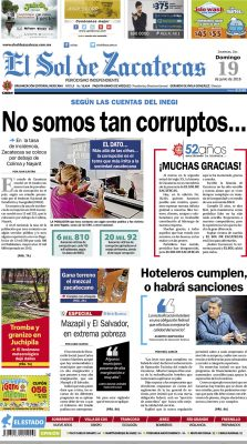 El Sol de Zacatecas 19 de junio