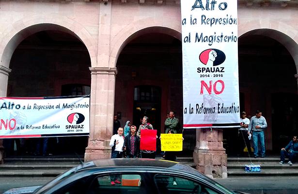 Protesta SPAUAZ por sucesos en Oaxaca