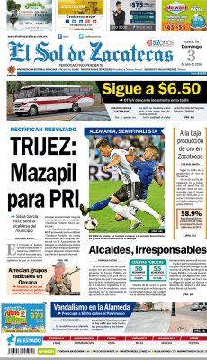 El Sol de Zacatecas 3 de julio