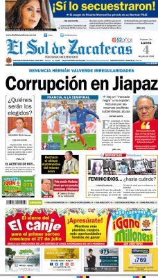 El Sol de Zacatecas 4 de julio