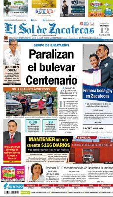 El Sol de Zacatecas 12 de julio