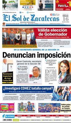 El Sol de Zacatecas 16 de julio