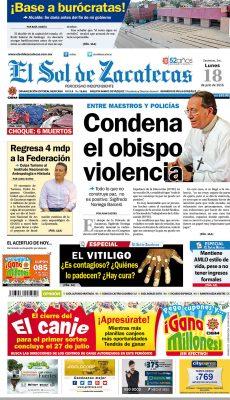 El Sol de Zacatecas 18 de julio