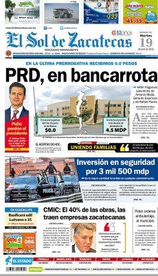 El Sol de Zacatecas 19 de julio