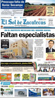 El Sol de Zacatecas 21 de julio