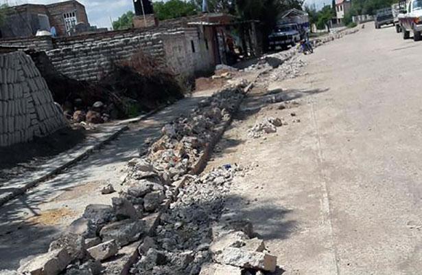 Reparan drenaje en Villa Hidalgo
