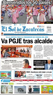El Sol de Zacatecas 30 de julio