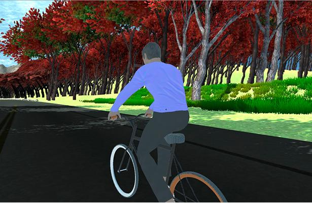 Estudiantes diseñan simulador de bicicleta con visualización virtual
