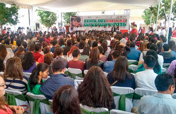 Realizan Feria del Empleo en Guadalupe