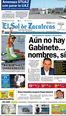 El Sol de Zacatecas 7 de agosto
