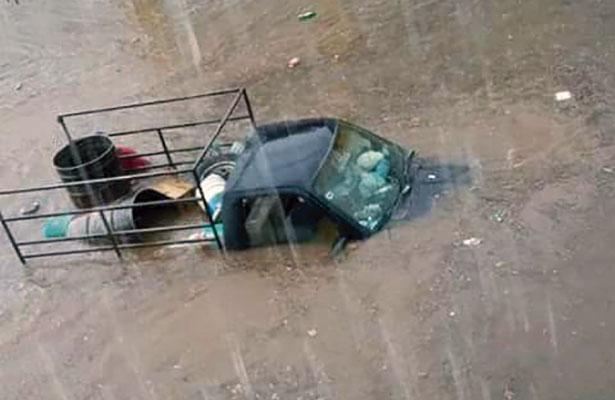 Lluvias causan desastres en el estado