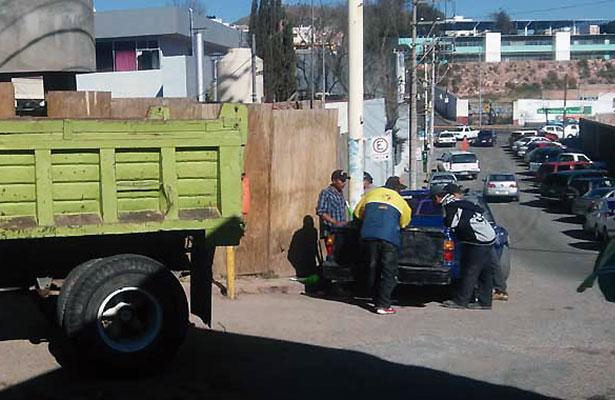 Cierran el callejón de Ruiz por obras