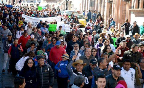 Repudio al gasolinazo en la capital zacatecana