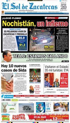 El Sol de Zacatecas 20 de abril