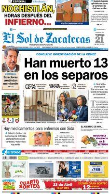 El Sol de Zacatecas 21 de abril