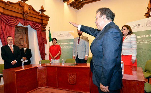 Joel Guerrero, nuevo delegado en Zacatecas de la Segob