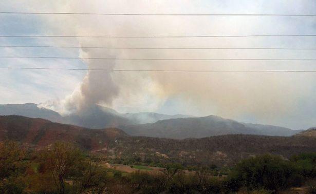 Se aviva incendio en Sierra de Morones; 500 has dañadas