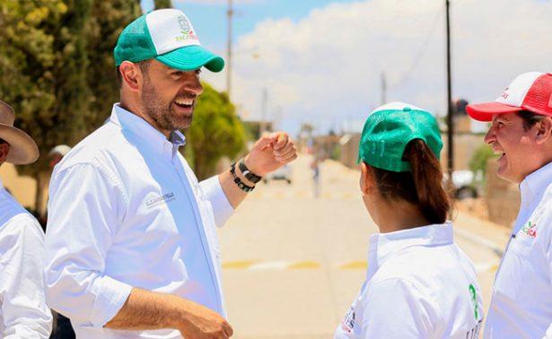 Inicia gobernador pavimentaciones en Fresnillo