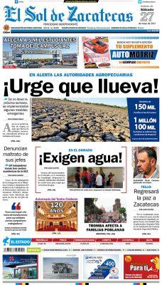 El Sol de Zacatecas 27 de mayo