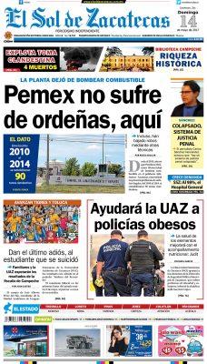 El Sol de Zacatecas 14 de mayo