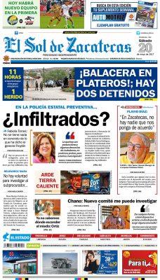 El Sol de Zacatecas 20 de mayo