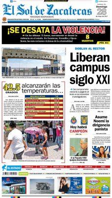 El Sol de Zacatecas 28 de mayo