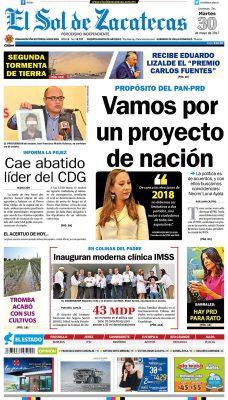 El Sol de Zacatecas 30 de mayo