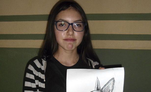 Amy Glorieth, enamorada del dibujo