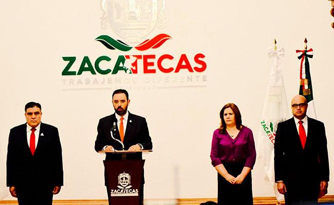 Toma protesta, el Secretario de Seguridad Pública, en Zacatecas