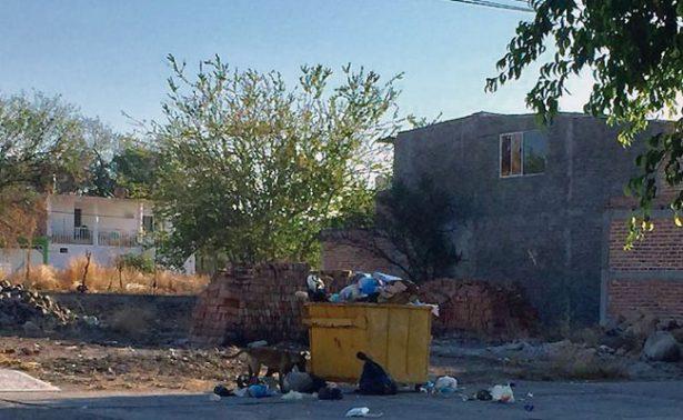 Jalpenses molestos por contenedores de basura