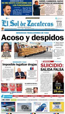 El Sol de Zacatecas 16 de junio