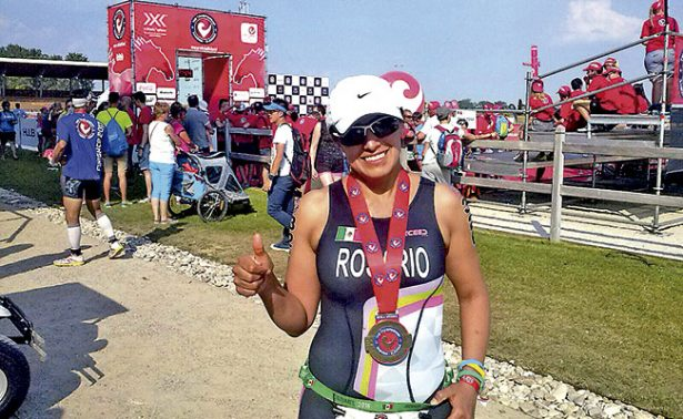 Rosario Román, triatleta de Fresnillo para el mundo