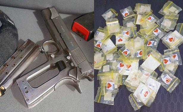 Capturan a cinco en Calera, con arma y droga