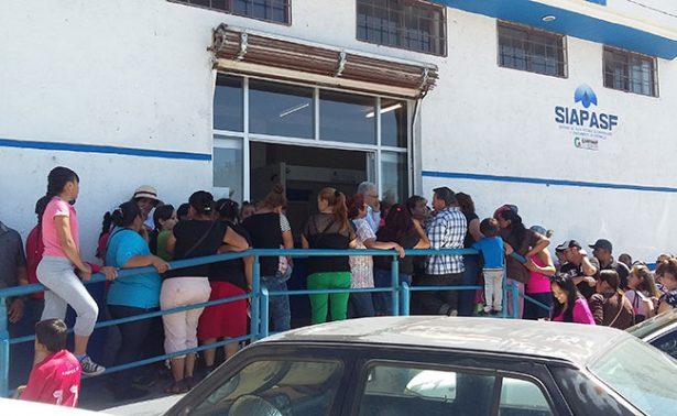 Perdió SIAPASF 200 mil pesos con toma de oficinas