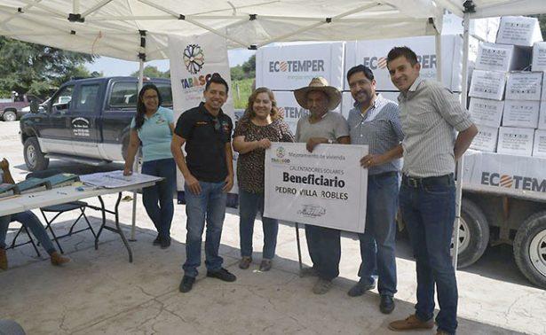 Entregan calentadores solares en comunidad de Tabasco, Zacatecas