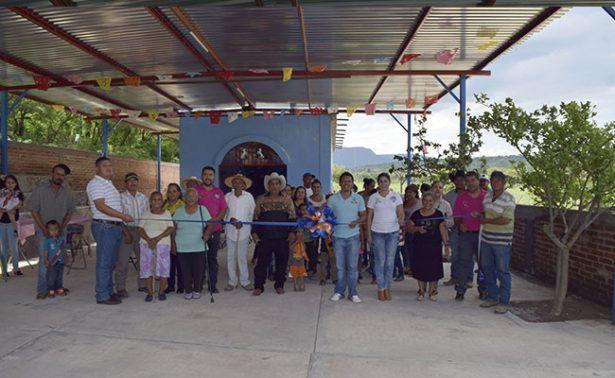 Inauguran techumbre en comunidad de Tabasco, Zacatecas