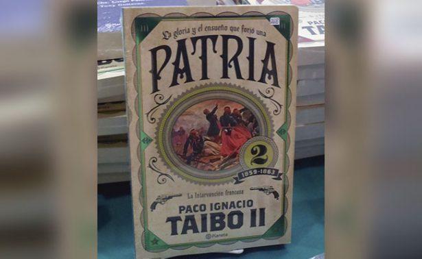 "Paco Ignacio Taibo II presentó su libro ""Patria"""