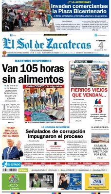 El Sol de Zacatecas 4 de agosto
